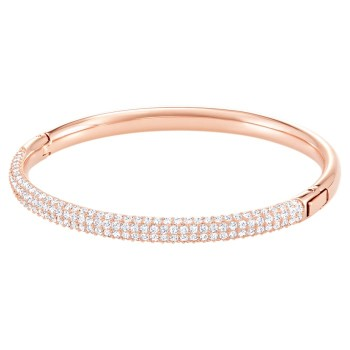 Swarovski Stone Bangle, Λευκό, Επιχρυσωμένο σε Ροζ Χρυσαφί απόχρωση, 5032850 κοσμήματα, βραχιόλι Swarovski , τιμές, ποικιλία σχεδίων, προσφορές