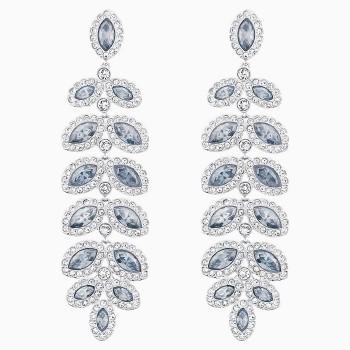 Swarovski Baron Pierced Earrings, Blue, 5074350 κοσμήματα, σκουλαρίκια Swarovski, τιμές, ποικιλία σχεδίων, προσφορές