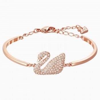 Swarovski Swan, Λευκό, Επιχρυσωμένο σε ροζ χρυσαφί απόχρωση, 5142752 κοσμήματα, βραχιόλι Swarovski , τιμές, ποικιλία σχεδίων, προσφορές