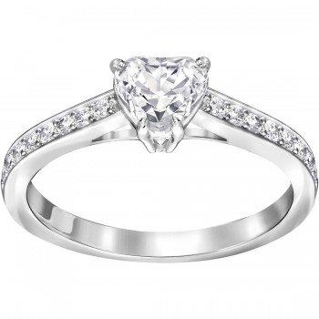 Swarovski Attract Heart, Λευκό, Επιροδιωμένο, 5221388 δαχτυλίδι Swarovski, ποικιλία σχεδίων, τιμές, προσφορές