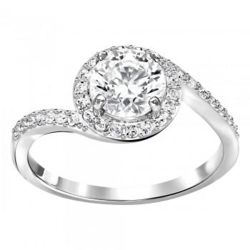 Swarovski Attract Light Swirl, Λευκό, Επιροδιωμένο, 5221410 δαχτυλίδι Swarovski, ποικιλία σχεδίων, τιμές, προσφορές