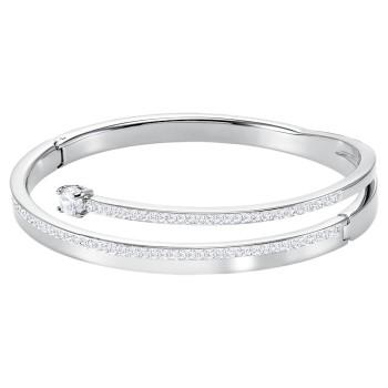 Swarovski Fresh, Λευκό, Επιροδιωμένο, 5225445 κοσμήματα, βραχιόλι Swarovski , τιμές, ποικιλία σχεδίων, προσφορές