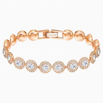 Swarovski Angelic, Λευκό, Επιχρυσωμένο σε ροζ χρυσαφί απόχρωση, 5240513 κοσμήματα, βραχιόλι Swarovski , τιμές, ποικιλία σχεδίων, προσφορές
