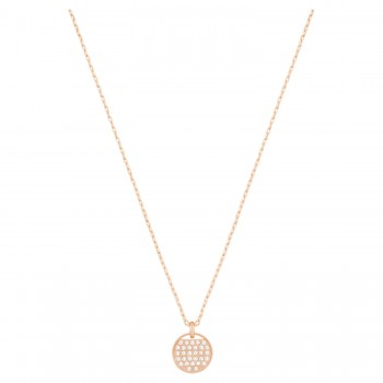 Swarovski Ginger Pendant, White Rose Gold Plating 5265913