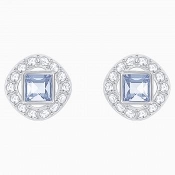 Swarovski Angelic Square, Μπλε, Επιροδιωμένα, 5352048 κοσμήματα σκουλαρίκια Swarovski, τιμές, ποικιλία σχεδίων, προσφορές