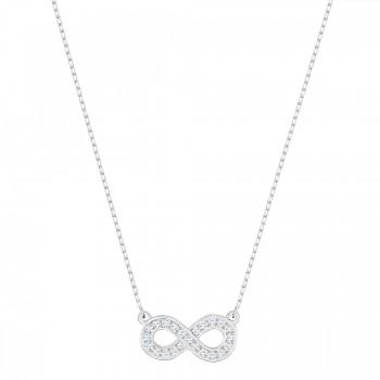 Swarovski Infinity, Λευκό, Επιροδιωμένο, 5358777 κολιέ Swarovski, τιμές, ποικιλία σχεδίων, προσφορές