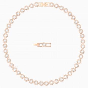 Swarovski Angelic, Λευκό, Επιχρυσωμένο με Ροζ Χρυσαφί Απόχρωση, 5367845 κολιέ Swarovski, τιμές, ποικιλία σχεδίων, προσφορές