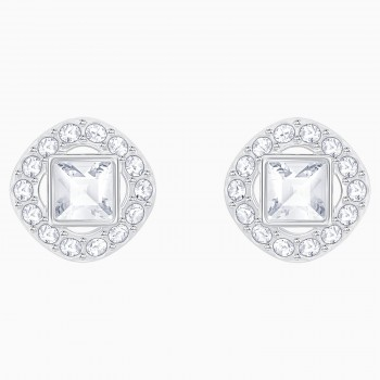 Angelic Square Pierced Earrings, White 5368146