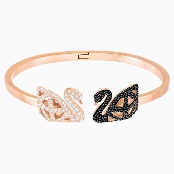 Swarovski Facet Swan, Λευκό-Μαύρο, 5372919 κοσμήματα, χειροπέδα, βραχιόλι Swarovski , τιμές, ποικιλία σχεδίων, προσφορές