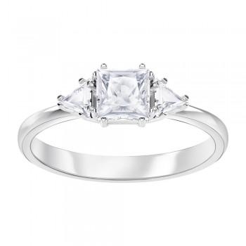 Swarovski Attract Trilogy, Λευκό, Επιροδιωμένο, 5402447 δαχτυλίδι Swarovski, ποικιλία σχεδίων, τιμές, προσφορές