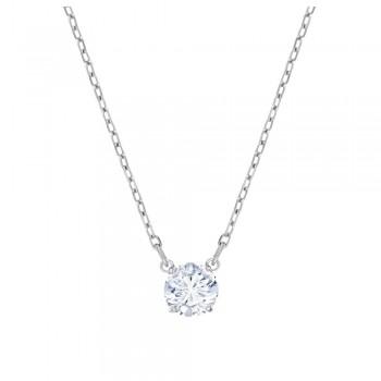 Swarovski Attract Round, Λευκό, Επιροδιωμένο, 5408442 κοσμήματα, κολιέ Swarovski, τιμές, ποικιλία σχεδίων, προσφορές