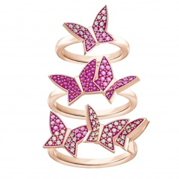 Swarovski Lilia Ring Set, Multi-colored 5409014