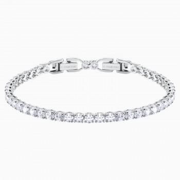 Swarovski Tennis Deluxe, Λευκό, Επιροδιωμένο, 5409771 κοσμήματα, βραχιόλι Swarovski , τιμές, ποικιλία σχεδίων, προσφορές