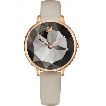 Swarovski Crystal Lake Watch Leather strap, Grey 5415996