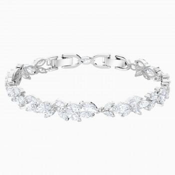 Swarovski Louison, Λευκό, Επιροδιωμένο, 5419244 κοσμήματα, βραχιόλι Swarovski , τιμές, ποικιλία σχεδίων, προσφορές