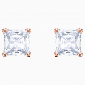 Swarovski Attract, Λευκά, Επιχρυσωμένα σε Ροζ Χρυσαφί απόχρωση, 5431895 κοσμήματα σκουλαρίκια Swarovski, τιμές, ποικιλία σχεδίων, προσφορές
