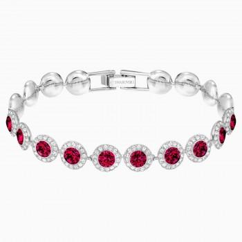Swarovski Angelic, Κόκκινο, Επιροδιωμένο, 5446006 κοσμήματα, βραχιόλι Swarovski , τιμές, ποικιλία σχεδίων, προσφορές