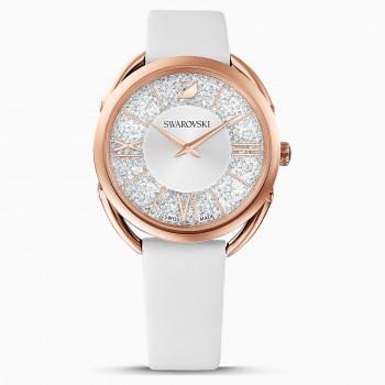 Swarovski Crystalline Glam, Leather Strap, White, 5452459 ρολόι SWAROVSKI, τιμές, ποικιλία σχεδίων, προσφορές