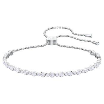 Swarovski Subtle, Λευκό, Επιροδιωμένο, 5465384 κοσμήματα, βραχιόλι Swarovski , τιμές, ποικιλία σχεδίων, προσφορές