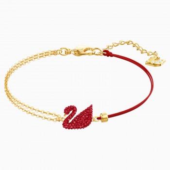 Swarovski Iconic Swan, Κόκκινο, Επιχρυσωμένο, 5465403 κοσμήματα, βραχιόλι Swarovski , τιμές, ποικιλία σχεδίων, προσφορές