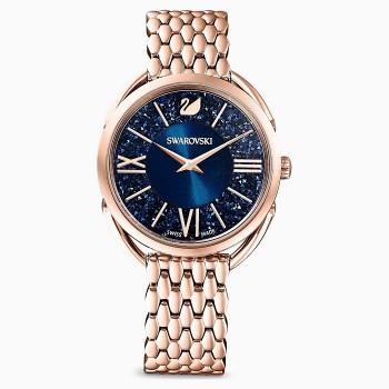 Swarovski Crystalline Glam, Metallic Bracelet, Blue, Rose-Gold PVD, 5475784, ρολόι SWAROVSKI, τιμές, ποικιλία σχεδίων, προσφορές