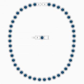 Swarovski Angelic, Μπλε, Επιροδιωμένο, 5482698 κολιέ Swarovski, τιμές, ποικιλία σχεδίων, προσφορές