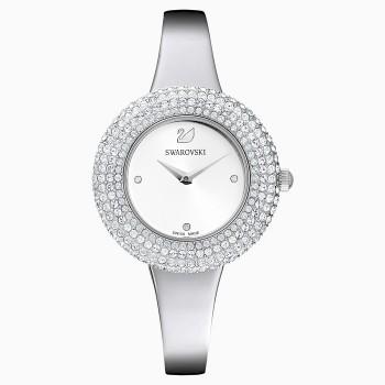 Swarovski Crystal Rose, Metallic Bracelet, Silver, Stainless Steel, 5483853, ρολόι SWAROVSKI, τιμές, ποικιλία σχεδίων, προσφορές