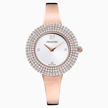 Swarovski Crystal Rose, Metal Bracelet, White, Rose-Gold PVD, 5484073, ρολόι SWAROVSKI, τιμές, ποικιλία σχεδίων, προσφορές