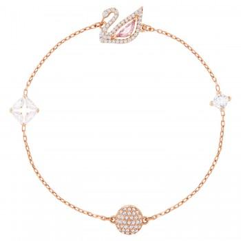 Swarovski Dazzling Swan, Πολύχρωμο, Επιχρυσωμένο σε Ροζ Χρυσαφί απόχρωση, 5485876 κοσμήματα, βραχιόλι Swarovski , τιμές, ποικιλία σχεδίων, προσφορές
