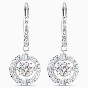 Swarovski Sparkling Dance, Λευκά, Επιροδιωμένα, 5504652 κοσμήματα σκουλαρίκια Swarovski, τιμές, ποικιλία σχεδίων, προσφορές