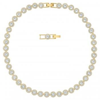 Swarovski Angelic, Λευκό, Επιχρυσωμένο, 5505468 κολιέ Swarovski, τιμές, ποικιλία σχεδίων, προσφορές