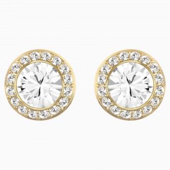 Swarovski Τρυπητά σκουλαρίκια καρφιά Angelic, Λευκά, Επιχρυσωμένα, 5505470 κοσμήματα σκουλαρίκια Swarovski, τιμές, ποικιλία σχεδίων, προσφορές