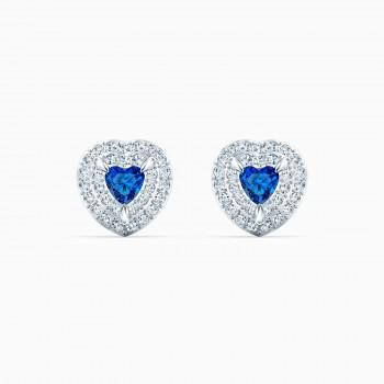 Swarovski One, Μπλε, Επιροδιωμένα, 5511685 κοσμήματα, σκουλαρίκια SWAROVSKI, τιμές, ποικιλία σχεδίων, προσφορές