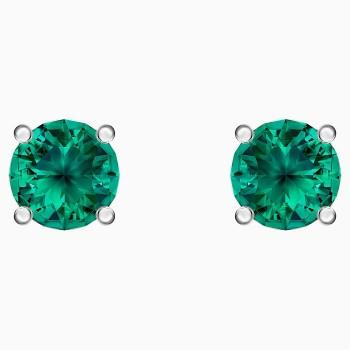 Swarovski Attract Stud Pierced Earrings, Green, 5512384 κοσμήματα σκουλαρίκια Swarovski, τιμές, ποικιλία σχεδίων, προσφορές