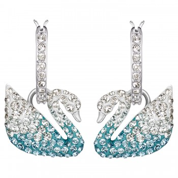 Swarovski Iconic Swan, Πολύχρωμα, Επιροδιωμένα, 5512577 κοσμήματα σκουλαρίκια Swarovski, τιμές, ποικιλία σχεδίων, προσφορές