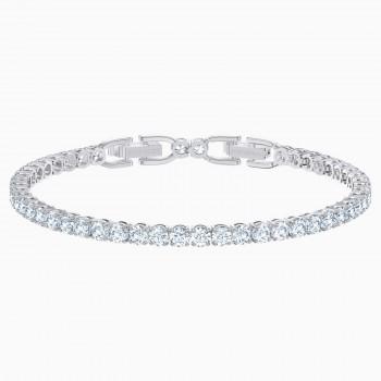 Swarovski Βραχιόλι Tennis Deluxe, Λευκό, Επιροδιωμένο, 5513401 κοσμήματα, βραχιόλι Swarovski , τιμές, ποικιλία σχεδίων, προσφορές