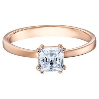 Swarovski Attract Motif, Λευκό, Επιχρυσωμένο σε ροζ χρυσαφί απόχρωση, 5515776 δαχτυλίδι Swarovski, ποικιλία σχεδίων, τιμές, προσφορές