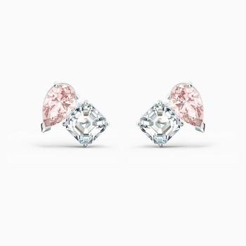 Swarovski Attract Soul Pierced Earrings, Pink, 5517118 κοσμήματα, σκουλαρίκια Swarovski, τιμές, ποικιλία σχεδίων, προσφορές