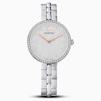Swarovski Cosmopolitan, Metallic Bracelet, White, Stainless Steel, 5517807, ρολόι SWAROVSKI, τιμές, ποικιλία σχεδίων, προσφορές