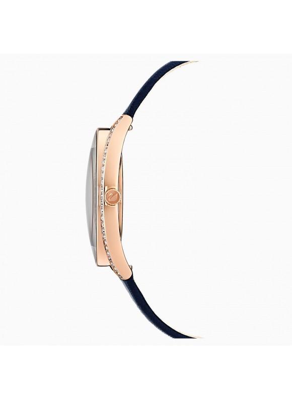 Swarovski Crystalline Aura, Leather Strap, Blue, 5519447 ρολόι SWAROVSKI, τιμές, ποικιλία σχεδίων, προσφορές