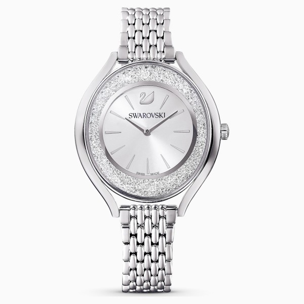 Swarovski Crystalline Aura, Metallic Bracelet, White, Stainless Steel, 5519462 ρολόι SWAROVSKI, τιμές, ποικιλία σχεδίων, προσφορές