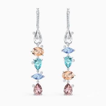 Sunny Hoop Pierced Earrings, Light Multi-Colored, 5520490 κοσμήματα σκουλαρίκια Swarovski, τιμές, ποικιλία σχεδίων, προσφορές