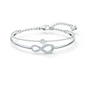 Swarovski Infinity, Λευκό, Επιροδιωμένο, 5520584 κοσμήματα, βραχιόλι Swarovski , τιμές, ποικιλία σχεδίων, προσφορές
