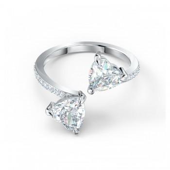 Δαχτυλίδι Swarovski Attract Soul Heart, Λευκό, Επιροδιωμένο, 5535328 δαχτυλίδι Swarovski, ποικιλία σχεδίων, τιμές, προσφορές