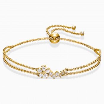 Swarovski Botanical, Λευκό, Επιχρυσωμένο, 5535790 κοσμήματα, βραχιόλι Swarovski , τιμές, ποικιλία σχεδίων, προσφορές
