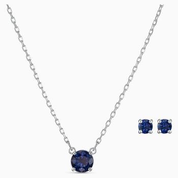 Swarovski Attract Round Set, Blue, 5536554 κολιέ και σκουλαρίκια Swarovski, τιμές, ποικιλία σχεδίων, προσφορές