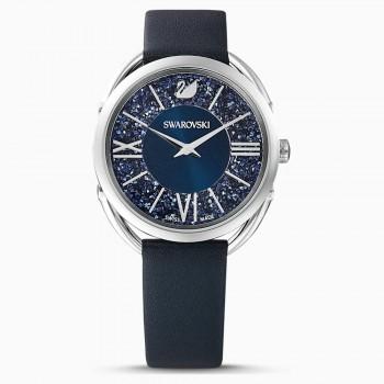 Swarovski Crystalline Glam, Leather Strap, Blue, Stainless Steel, 5537961, ρολόι SWAROVSKI, τιμές, ποικιλία σχεδίων, προσφορές