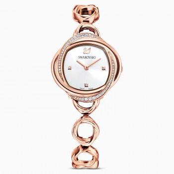 Swarovski Crystal Flower, Metallic Bracelet, Rose-Gold, Stainless Steel, 5547626 ρολόι SWAROVSKI, τιμές, ποικιλία σχεδίων, προσφορές