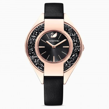 Swarovski Crystalline Sporty, Leather strap, Black, 5547632 ρολόι SWAROVSKI, τιμές, ποικιλία σχεδίων, προσφορές