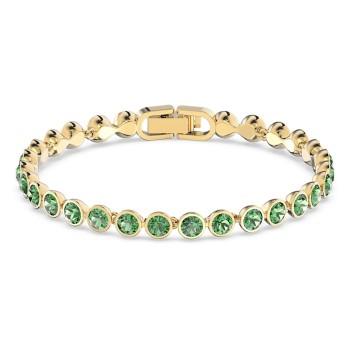 Swarovski Tennis, Πράσινο, Επιχρυσωμένο, 5555824 κοσμήματα, βραχιόλι Swarovski , τιμές, ποικιλία σχεδίων, προσφορές